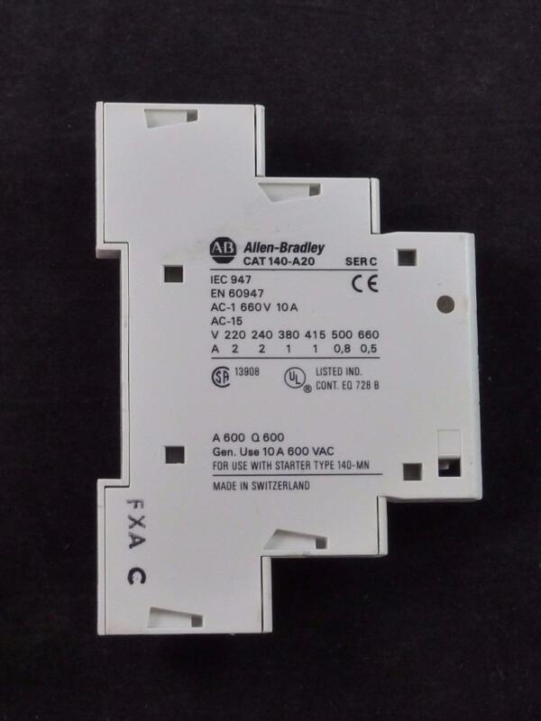 A-B Allen Bradley 140-A20 SER C Auxiliary Contact