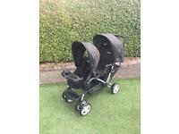 graco double pushchair / buggy