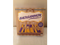 M&S Backgammon Set with Wooden Board