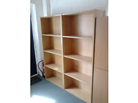 A PAIR OF OFFICE BOOKCASES