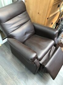 Child's faux leather chair