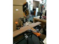 Extreme rage 3S sliding compound mitre saw and stand