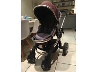 iCandy peach travel system and carrycot