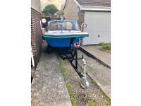 Taylor 49 fishing boat . With trailer , no engine