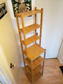 Shelving unit, made of bamboo, perfect bathroom or any room storage, Wimbledon.