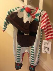 New with tags, Newborn Mamas & Papas Christmas outfit