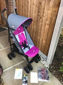 """Joie Nitro Stroller buggy pram lightweight """"As New condition"""" only used a handful of times"""