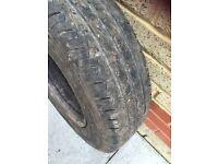 Part worn tyres. Toyota Nissan shogun mL etc