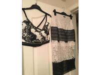 River island bra crop top and pencil skirt