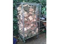 One Ton ( Or Bigger ) Cage Of Hardwood Fire Logs.