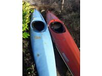 2 Kayaks going cheap!! In need of a bit of work and clean up