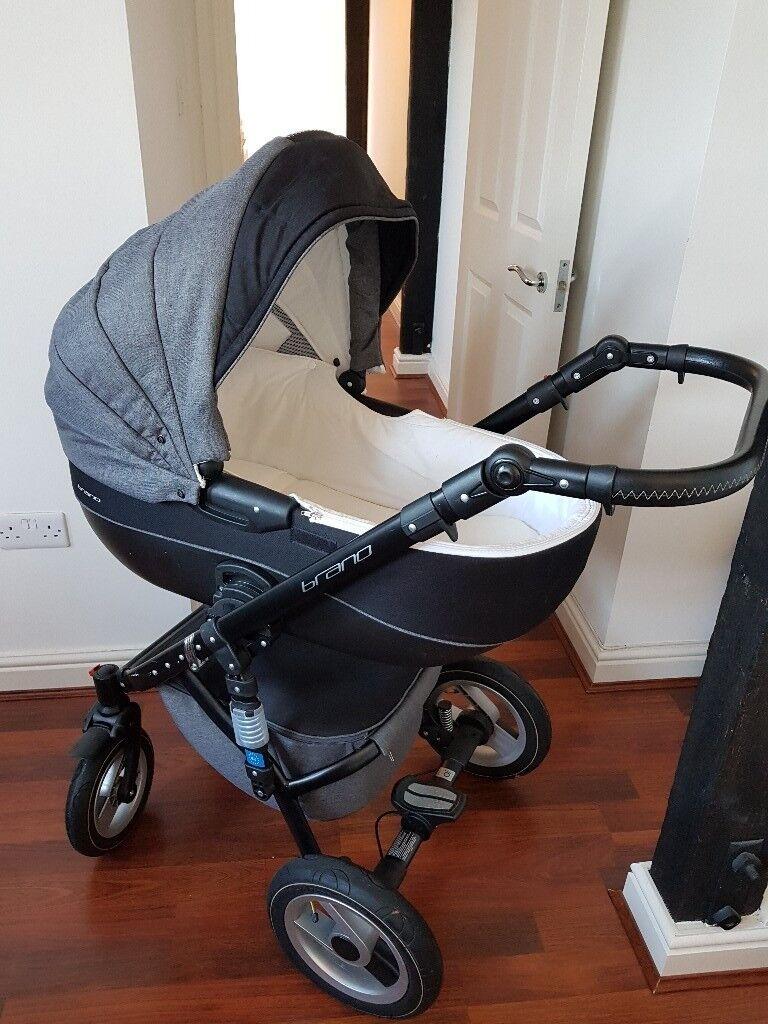 3 In 1 Baby Pram Set Bassinet Stroller And Car Seat