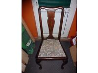 EDWARDIAN set of 4 antique dining chairs
