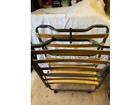 Foldaway Guest Bed - Slatted base on wheels with mattress