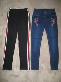 Girls jeans and joggers size 12/13 years