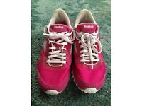 Pink Reebok trainers Size 4
