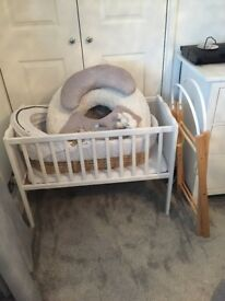 Moses Basket, Crib and Sit Up and Play