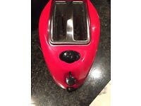 Red 2 Slice Toaster