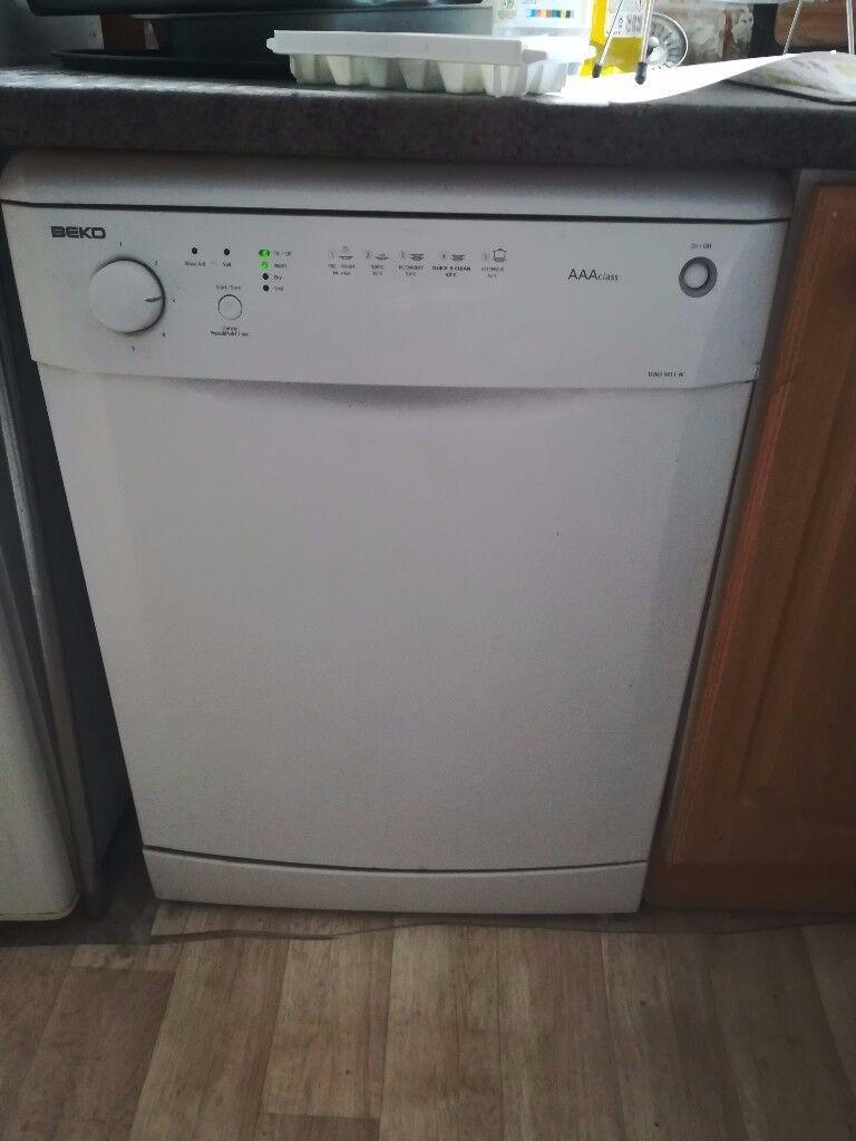 Beko Full Size Dishwasher, AAA rated, 12 place setting