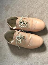 Nude coloured brogues