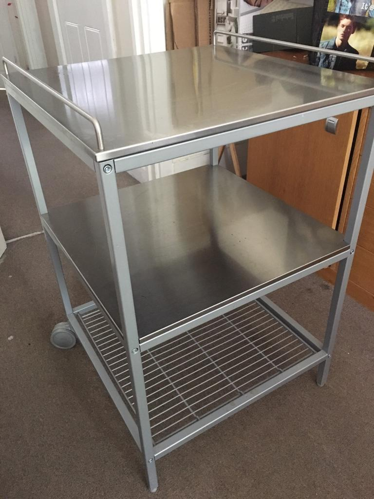 Stainless steel squared tablein Tower Bridge, LondonGumtree - Excellent conditions for this stainless steel squared table 50x50x70cm. On sale because in the new house we wont have space to keep it