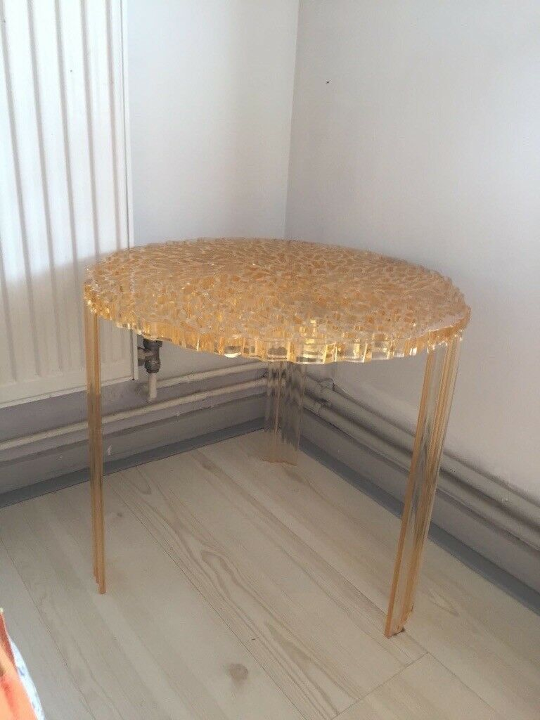 Kartell T-Table Modern Round Coffee End table by Patricia Urquiola   in  Canary Wharf, London   Gumtree