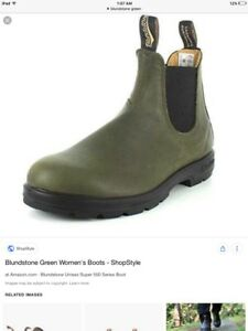 BLUNDSTONE Light Olive Green Chelsea Boots Aus 6
