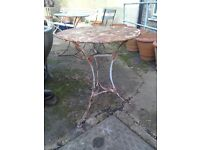 old french cafe table