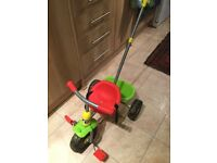 Toddler trike with parent handle