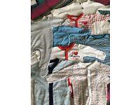 10 Baby unisex sleepsuits