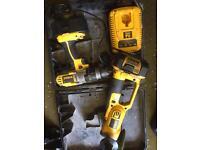 Dewalt grinder +drill 18v lithium