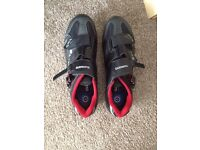 Men's Shimano clip-in cycling shoes size 9