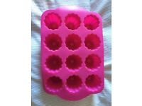 silicone cake tin moulds- various. £2 each or £5