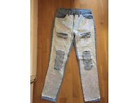 LEVI'S VINTAGE HIGH WAISTED JEANS - SEQUIN DESIGN - £35 ONLY - Size Small - LIKE NEW