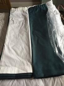 Brand new extra wide curtains - Professionally made.
