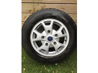 Ford custom original alloy wheels in mint condition