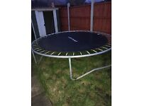 2.4 mtr trampoline with padded net suround