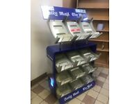 Display newspaper shelve
