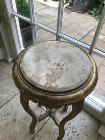 Round lamp type table