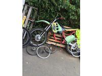 Motorbike frame and push bike bits