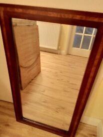Hardwood frame mirror