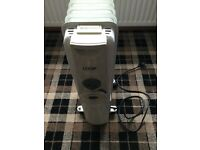 Logik Electric oil heater 1500w in excellent condition