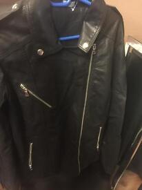 New leather jacket size 18