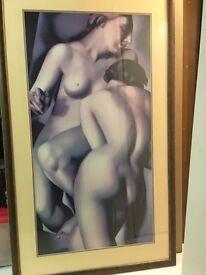 Very large Art Deco picture in frame - Tamara de Lempicka