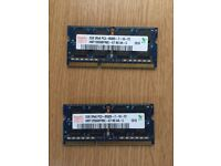 MacBook and iMac RAM 4GB (2GB x2) DDR3 PC3-8500 1066 MHz (Hynix), 1600 MHz (Epida) memory modules
