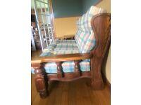 FREE solid oak 3 seat sofa