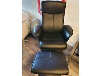 faux leather recliner swivel chairs