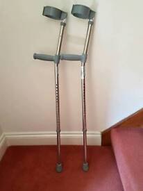 Nearly new crutches