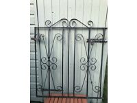 Small wrought iron gate