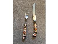 Royal Crown Derby knives and forks